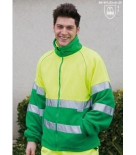 Forro polar Mod. HV774. Color amarillo/verde.