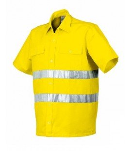 Camisa manga corta Mod. 8161NAV. Alta Visibilidad