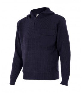 Jersey de punto Mod. 101 Cremallera y cuello alto.